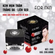 Kem Mụn Thâm - Trắng da - Liền Sẹo For MEN dưỡng chất Ngọc Trai Đỏ và Collagen SAIEHO (20g)