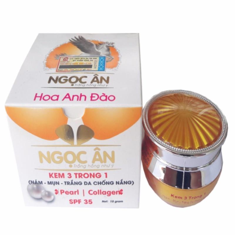 Kem Nám - Mụn - Trắng Da Chống Nắng 3 Trong 1 Ngọc Ân 15g nhập khẩu