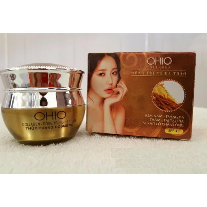 Kem Nám - Trắng Da - Thâm - Tái Tạo - Se Khít Lỗ Chân Lông OHIO Collagen - Đông Trùng Hạ Thảo (20g) nhập khẩu