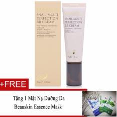 Hình ảnh Kem nền BB đa chức năng Beauskin Snail Multi Perfection BB Cream No.21 Nude Beige 45g (Hàng Chính Hãng) + Tặng 1 Mặt nạ dưỡng da Beauskin Essence Mask
