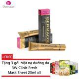 Bán Kem Nền Che Khuyết Điểm Va Hinh Xăm Dermacol Make Up Cover 30G Tặng 3 Goi Mặt Nạ Dưỡng Da 3W Clinic Fresh Mask Sheet 23Ml X3 Dermacol