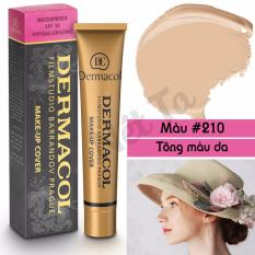 Ôn Tập Kem Nền Dermacol Make Up Cover 30G Mau 210 Tong Mau Da Mới Nhất