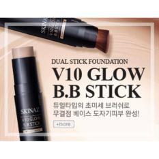 Giá Bán Kem Nền Kết Hợp Cọ Trang Điểm V10 Glow B B Stick Skinaz 10G Nhãn Hiệu Skinaz