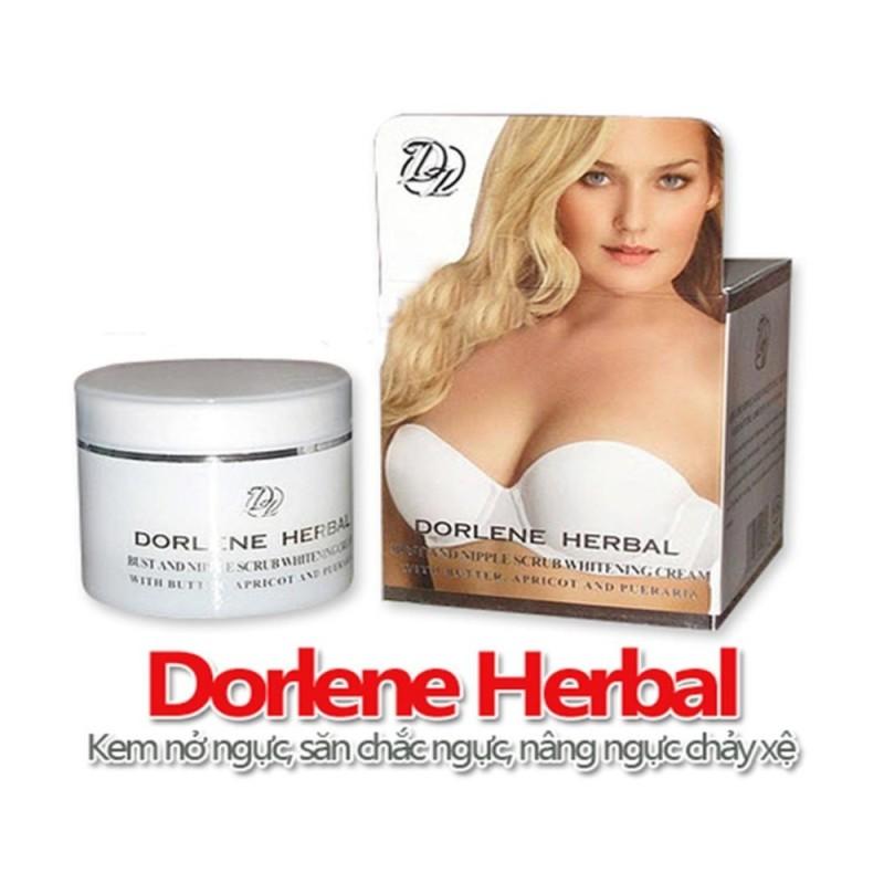 Kem nở ngực săn chắc và dưỡng trắng ngực Dorlene Herbal – Thái Lan 100ml nhập khẩu
