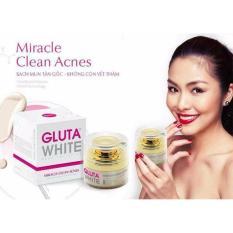 Kem Sạch Mụn Tận Gốc GLUTA WHITE Miracle Clean Acnes 30gr