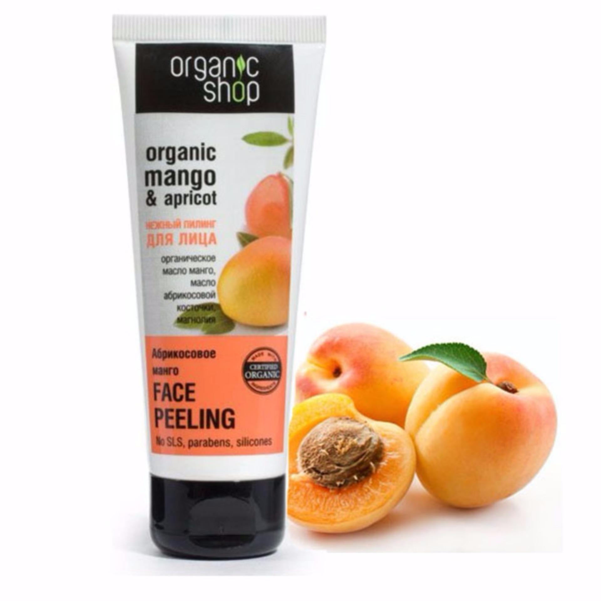 [Có Mã Giảm Giá] Kem tẩy da chết cho mặt chiết xuất Mơ - Xoài Organic Shop Mango & Apricot 75ml - TinderShop tốt nhất