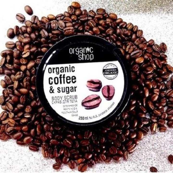 Kem tẩy tế bào chết toàn thân Organic Shop coffee & sugar body scrub 250ml - Cafe và đường