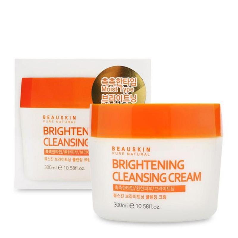 Kem tẩy trang dưỡng trắng da Beauskin Brightening Cleansing Cream Cao cấp Hàn Quốc 300ml - Hàng Chính Hãng