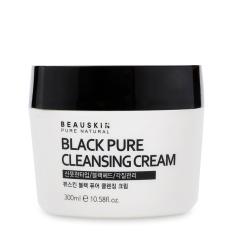 Ôn Tập Kem Tẩy Trang Lam Sạch Sau Beauskin Black Pure Cleansing Cream 300Ml Hang Chinh Hang