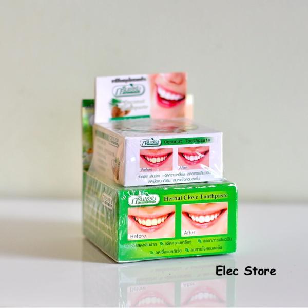 Kem tẩy trắng răng Green Herb Thái Lan 25g giá rẻ