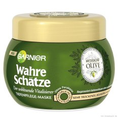 Kem ủ tóc phục hồi Garnier Wahre Schätze Olive 300ml nhập khẩu