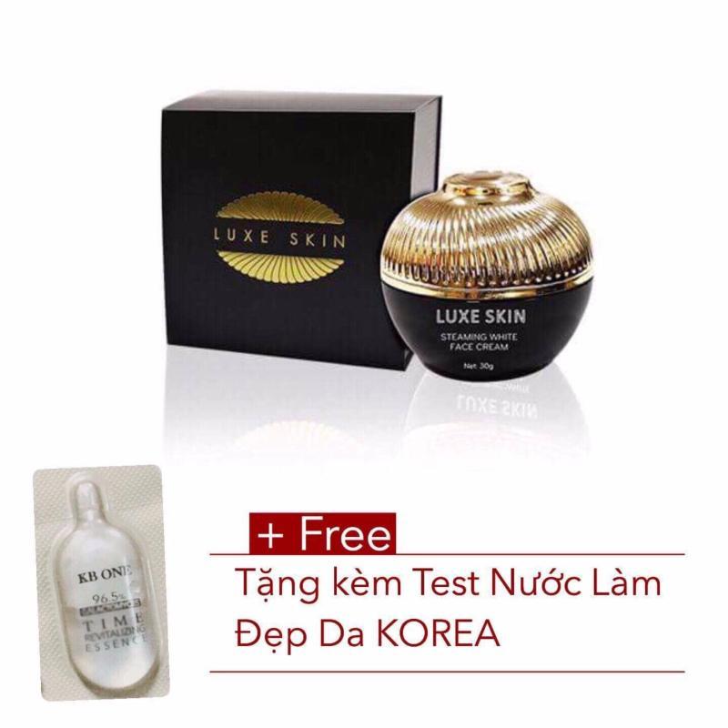 Kem Ủ Trắng Mặt Cao Cấp LUXE SKIN 30g  – Tặng Kèm Bột Mặt Nạ Ngọc Trai Luxe Skin trị giá 140.000 Và Test nước thần đẹp da Korea