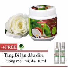 Hình ảnh Kem xả Dầu Dừa siêu mềm mượt 500g + Tặng Bi lăn dầu dừa dưỡng môi, mi, da 10ml