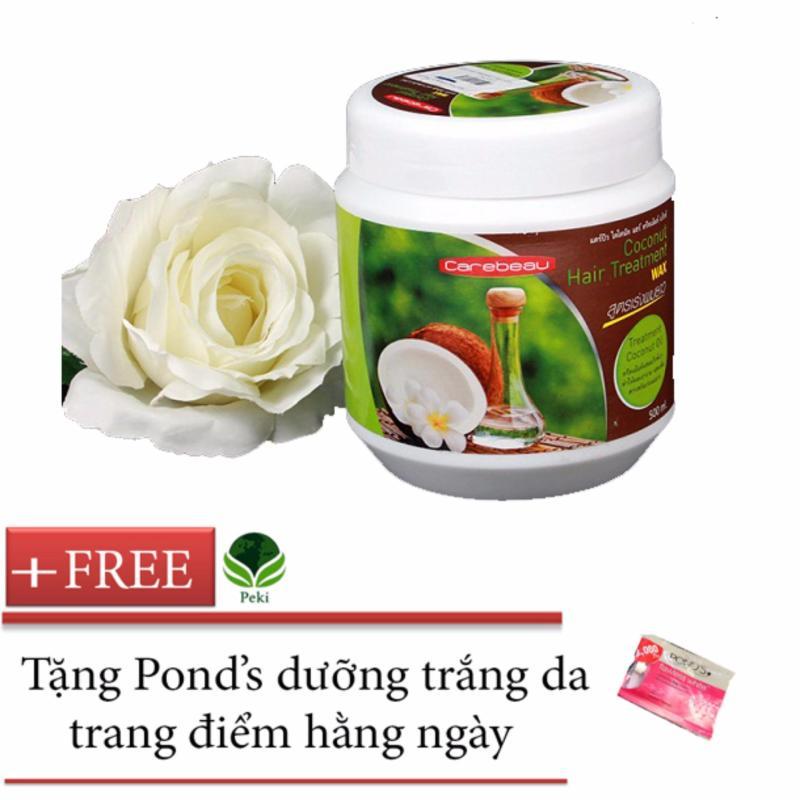 Kem xả Dầu Dừa siêu mềm mượt 500g + Tặng Ponds dưỡng da hằng ngày Thái Lan nhập khẩu