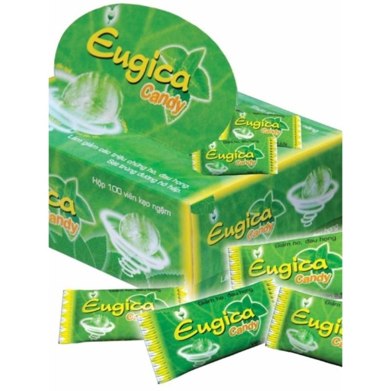 Kẹo ngậm thảo dược Eugica Candy (hộp 100 viên) tốt nhất