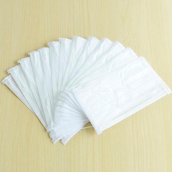 Khẩu trang y tế 4 lớp full trắng ( hộp 50 cái)