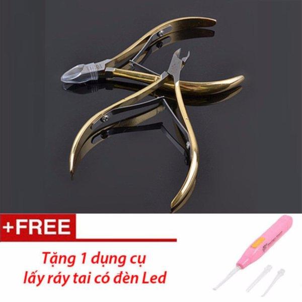 Kìm cắt móng tay D501 (Vàng) -Tặng bộ lấy ráy tai có đèn cao cấp