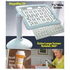 Kính lúp hỗ trợ đọc sách, sâu kim... xoay 180 độ cho người lớn tuổi - sử dụng đèn Led Brighter Viewer LED + tặng 01 trò ảo thuật thú vị