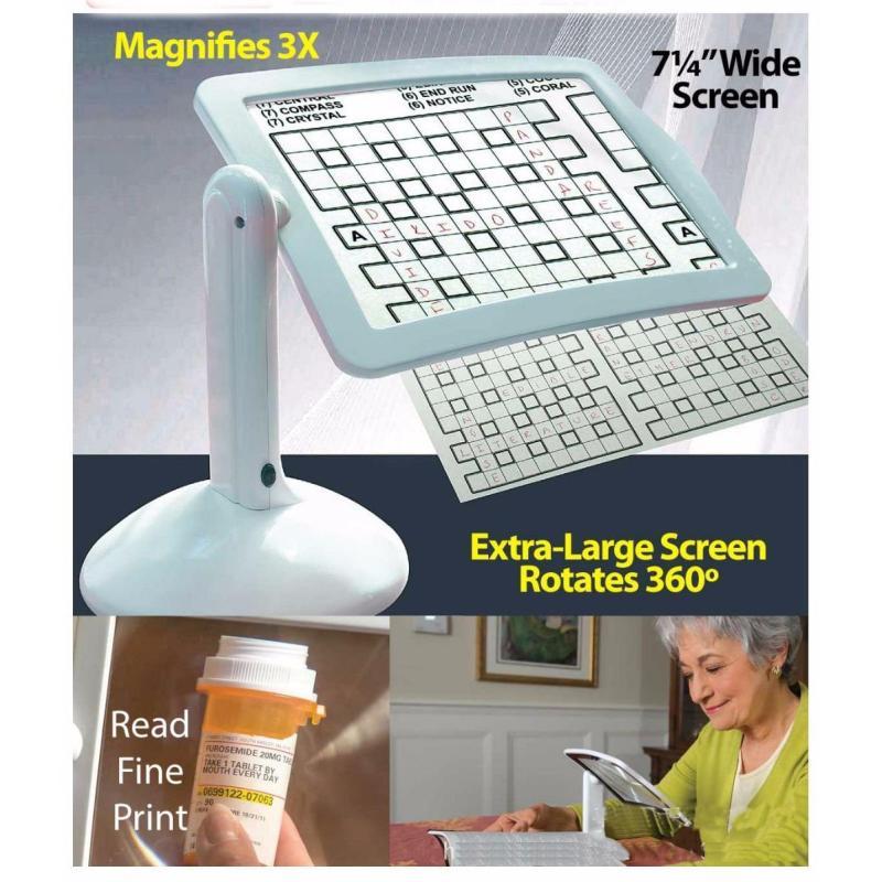 Kính lúp hỗ trợ đọc sách, sâu kim... xoay 180 độ cho người lớn tuổi - sử dụng đèn Led Brighter Viewer LED + tặng 01 trò ảo thuật thú vị tốt nhất