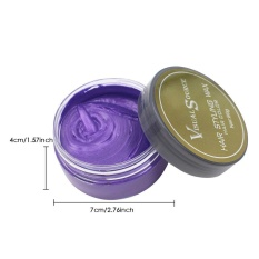 Bán Mua Trực Tuyến Leegoal Hair Color Wax Disposable Washable Hair Cream Dye For Men Women Party Hairstyle Cosplay Outfit Purple Intl