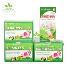 Liệu trình giảm cân 1 Slimtosen Extra + 3 Trà Slimutea từ HVQY