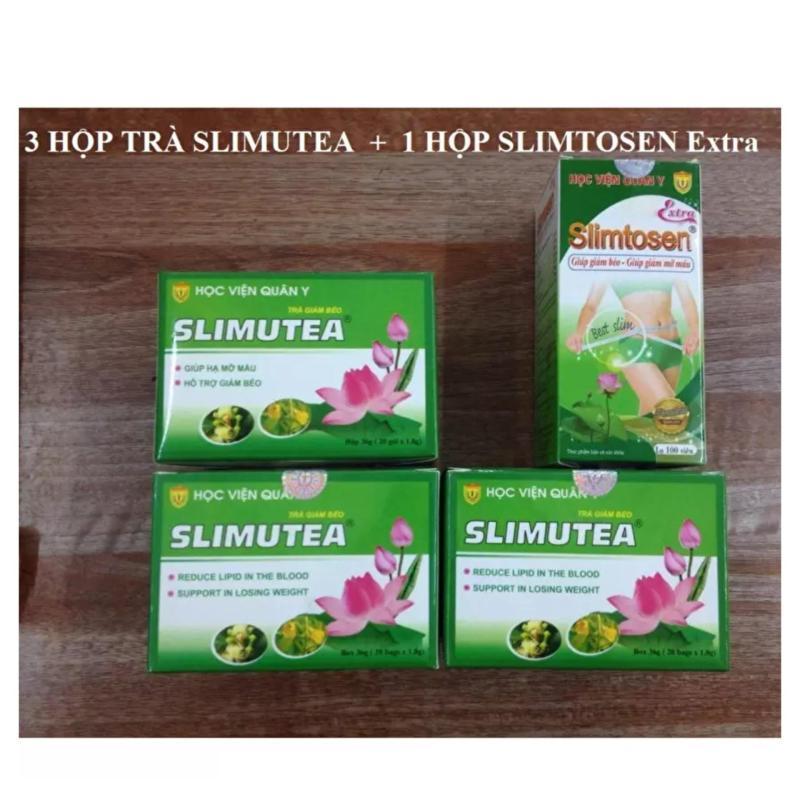 Liệu trình giảm cân gồm 1 SLIMTOSEN EXTRA + 3 Trà SLIMUTEA Học Viện Quân Y cao cấp