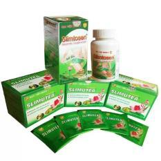 Liệu trình giảm cân slimtosen extra học viện quân y 1 hộp viên + 3 hộp trà