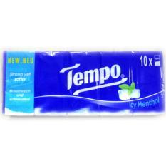 Lốc khăn giấy cao cấp Tempo Icy Menthol 10 gói tốt nhất