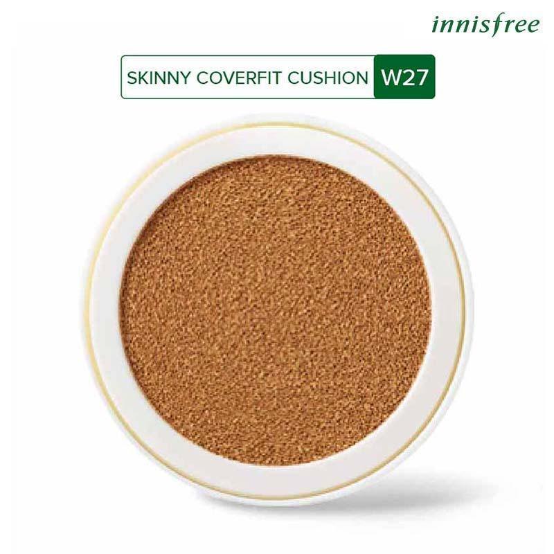 Lõi phấn nền che phủ mỏng nhẹ Innisfree Skinny Coverfit Cushion W27 SPF34 PA++ 14g