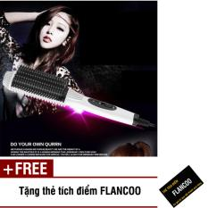 Lược chải uốn tóc Nova 4661 (Trắng) + Tặng kèm thẻ tích điểm Flancoo chính hãng