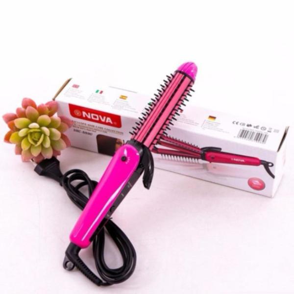 Lược điện tạo kiểu tóc 3 in 1 Nova 8890 màu hồng
