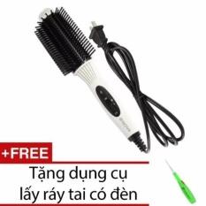 Lược điện uốn tóc đa năng NOVA NHC-8810 + Tặng dụng cụ lấy ráy tai có đèn(White) nhập khẩu