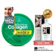 Mặt Nạ Dưỡng Trắng Đẹp Da Collagen Da Khô 145g TẶNG Gel Vệ Sinh 100ml LANGCE dành cho nam tốt nhất