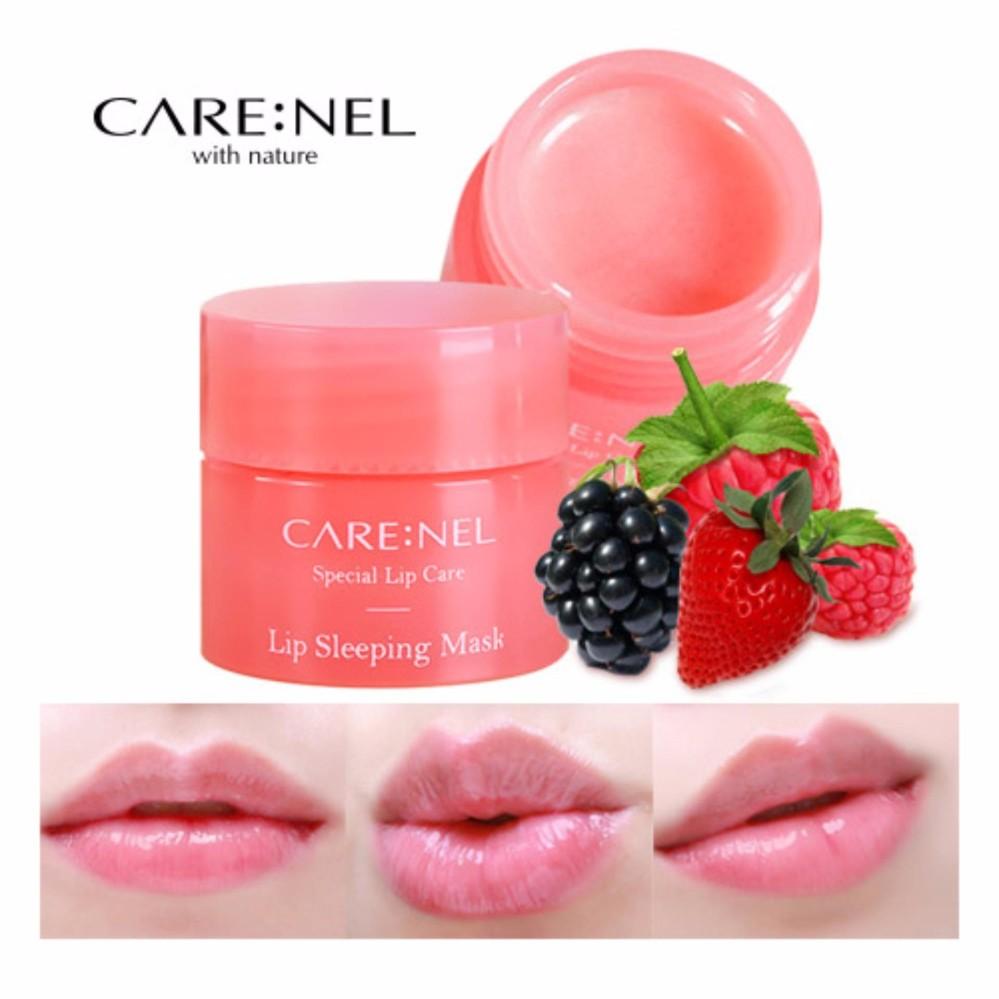 Mặt Nạ Dưỡng Và Trị Môi Thâm CARE:NEL Lip Sleeping Mask 5g - Hồng