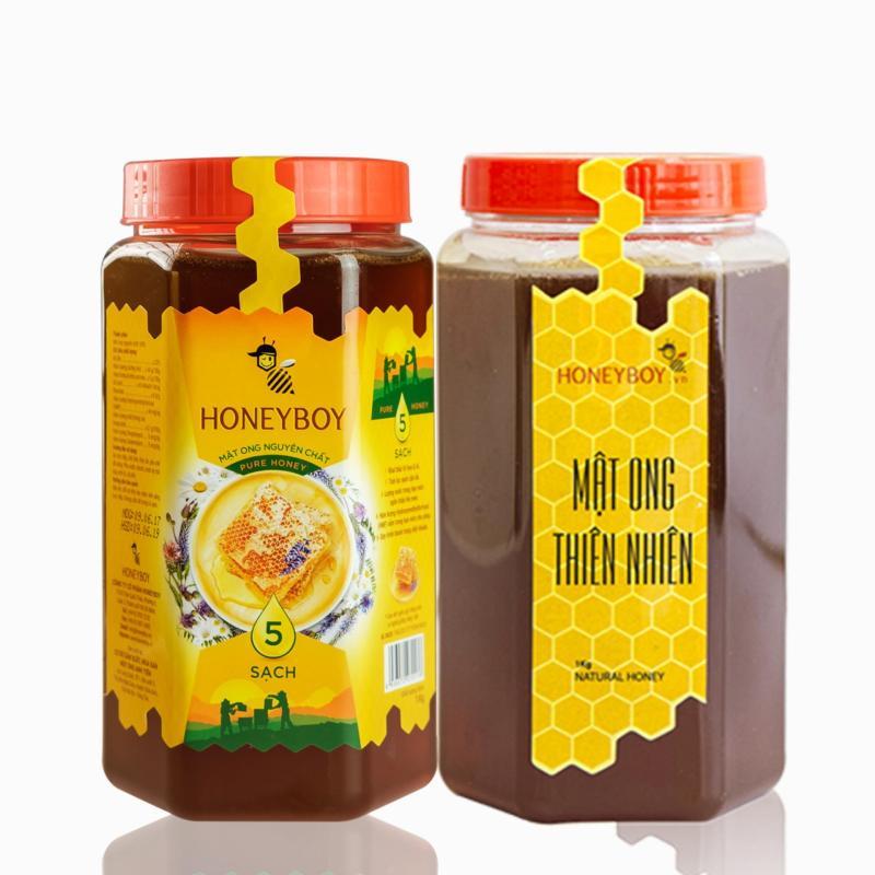 Mật Ong Thiên Nhiên 5 Sạch Honeyboy 1kg và Mật Ong Thiên Nhiên 1KG cao cấp