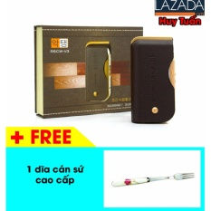Máy cạo râu chạy pin sạc Boteng shaver V3 (Nâu) + free 1 dĩa cán sứ cao cấp