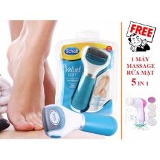 Máy chà gót chân VELVET SMOOTH + Tặng 1 máy massage rửa mặt 5 in 1 nhập khẩu