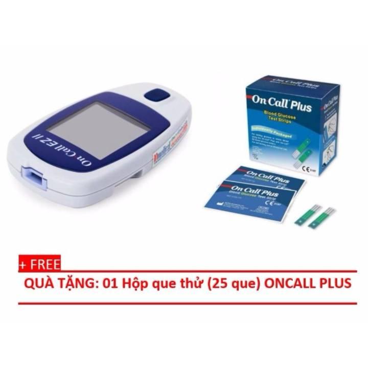 Máy đo đường huyết (tiểu đường) Acon (USA) OnCall-EZII + Tặng hộp que thử 25 que