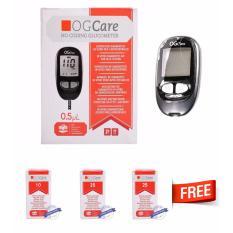 Máy đo đường huyết Ogcare của Ý + Tặng kèm 60 que thử