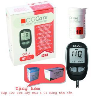 Máy đo đường huyết OGCare tự động nhận mã que thumbnail