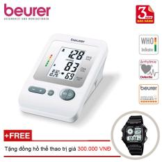Máy đo huyết áp bắp tay Beurer BM26 + Tặng đồng hồ thể thao