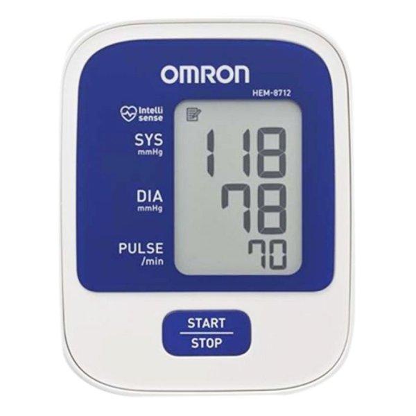 Máy đo huyết áp bắp tay Omron HEM-8712 (Trắng phối xanh)