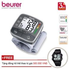 Máy đo huyết áp cổ tay Beurer BC32 + Tặng đồng hồ thể thao