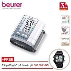 Máy đo huyết áp cổ tay BEURER BC40 + Tặng đồng hồ thể thao nhập khẩu