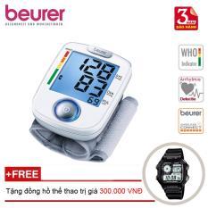 Máy đo huyết áp cổ tay Beurer BC44 + Tặng đồng hồ thể thao