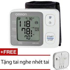 Hình ảnh Máy đo huyết áp cổ tay Omron HEM-6131 + Tặng 1 tai nghe nhét tai