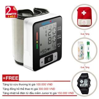 Máy Đo Huyết Áp Cổ Tay Tự Động Công nghệ Kỹ Thuật Số Medilife MBP - U60C + Tặng Đồng Hồ Thể Thao + Nhiệt kế điện tử đầu mềm Junior + Túi cứu thương (OEM) Tmark thumbnail