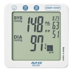 Máy đo huyết áp công nghệ cao cấp ALPK2 Model K2-231 - Tặng kèm bộ đổi điện AC/DC