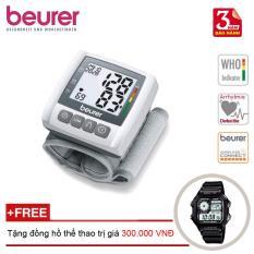 Máy đo huyết áp điện tử cổ tay Beurer BC30 + Tặng đồng hồ thể thao nhập khẩu