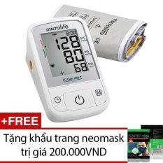 Máy đo huyết áp Microlife A2 Basic (Trắng) + Tặng khẩu trang neomask